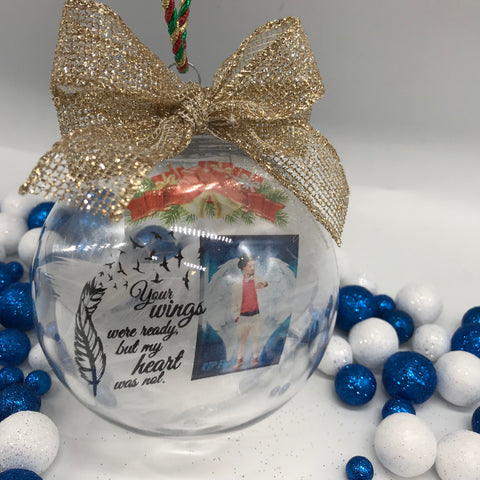 Floating Memorial Christmas Ornament