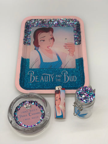 Beauty and the Bud Rolling Tray Set