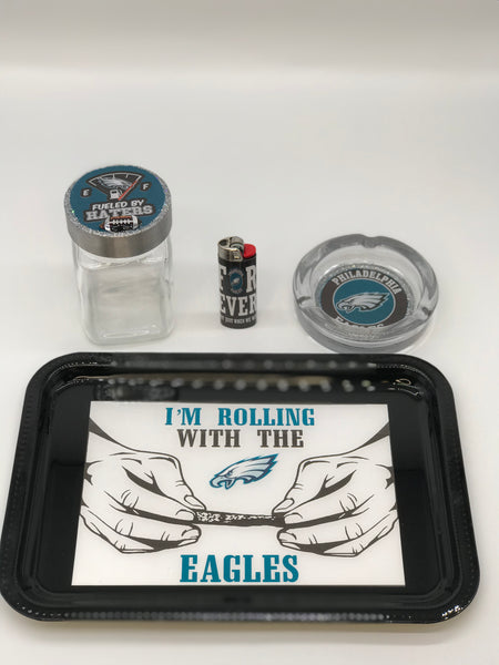 Rolling With The Eagles Tray Set