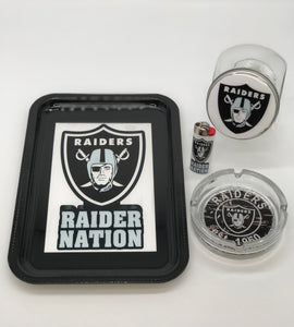 Raiders Rolling Tray Set