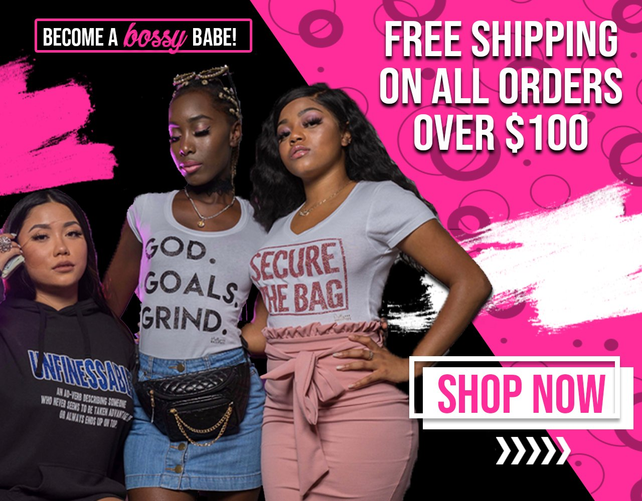 Free Shipping On All Orders $100 and Up.