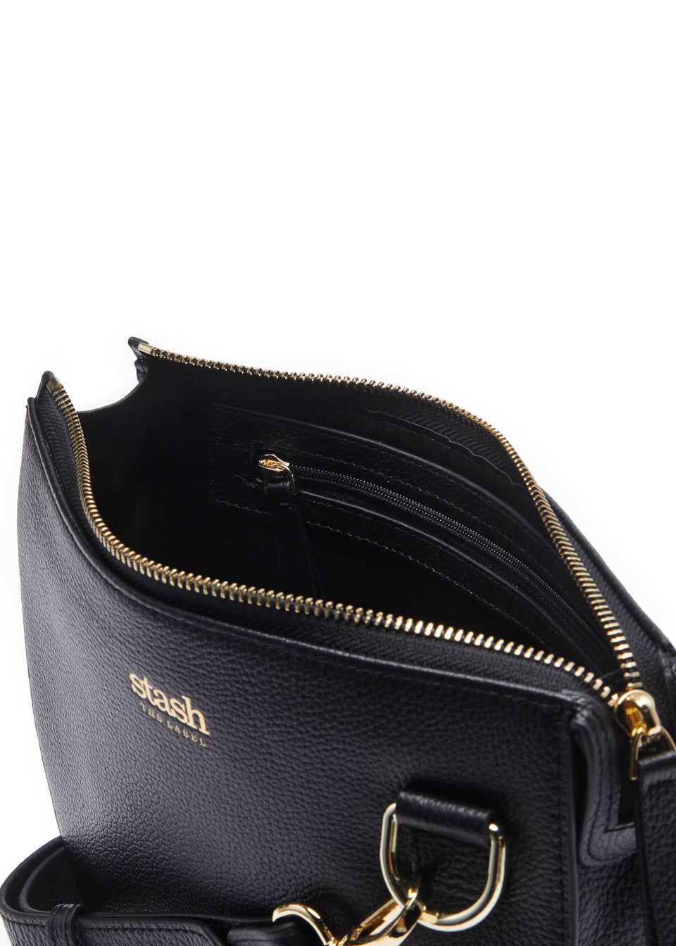 Half-moon Crossbody (Gold embossed logo)
