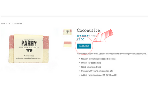 How to: VIEW THE PRODUCT PAGE - Parry Soap