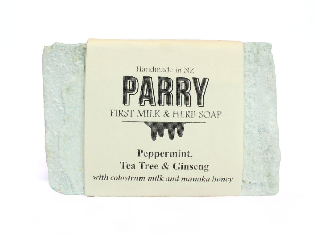 Peppermint, Tea tree & Ginseng - Sensitive skin friendly, Parry Soap, New Zealand