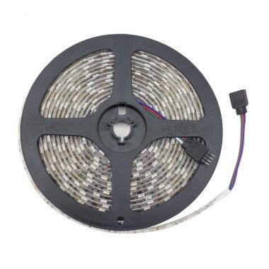 Striscia LED 12V DC 30 LED/m 5m RGB IP65