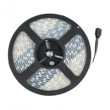 Striscia LED 12V DC 60 LED/m 5m RGB IP67