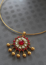 Gold Polished Pendant & Hasli