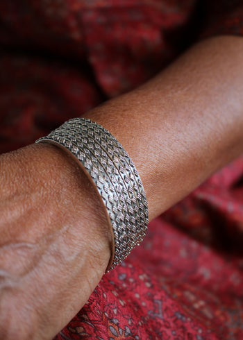 Silver Rava Bangles - Set of 2, Size 2.2