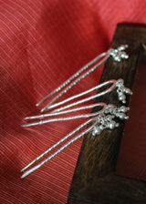 Silver Hair Pin - set of 2