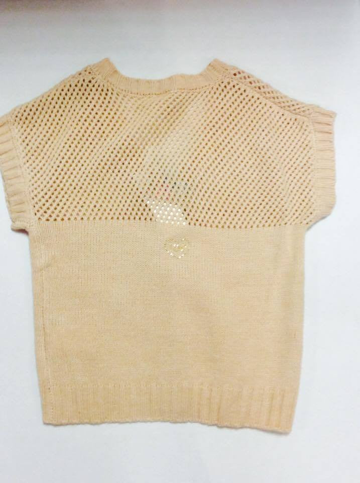 iDO Girls Beige/Gold Cardigan - Scarlett's Bowtique