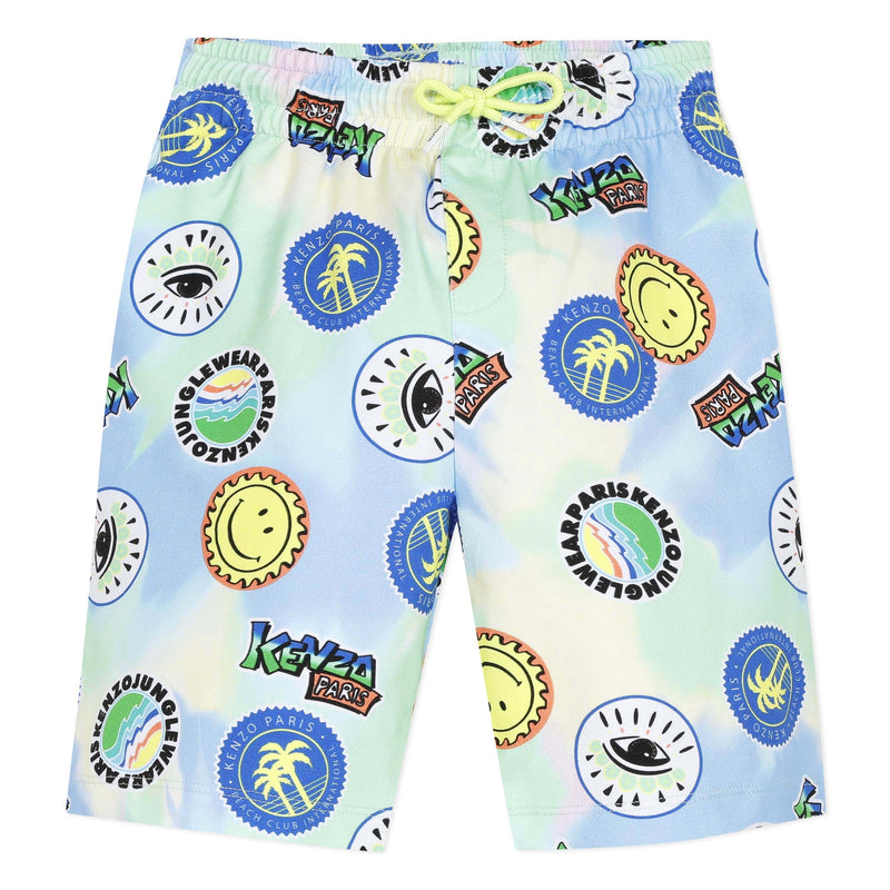 Kenzo Summer Boys Cali Party Neon Shorts - Scarlett's Bowtique