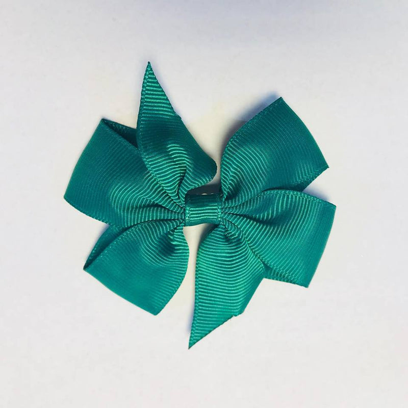 Scarlett's Bow Forest Green Grosgrain 3