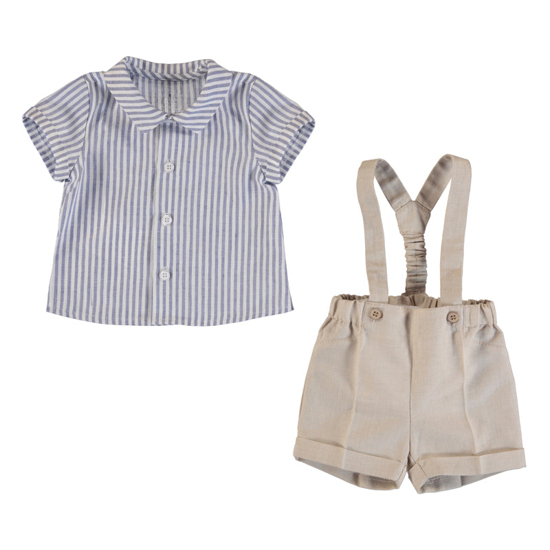 Mayoral Summer Baby Boys Tan Chino Shorts & Shirt Set - Scarlett's Bowtique