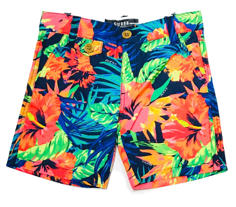 Summer Hawaiian Print Bermuda Shorts