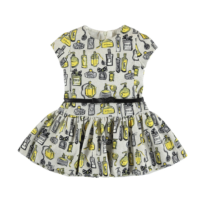 Mayoral Winter Girls Grey Belted Perfume Dress - Scarlett's Bowtique