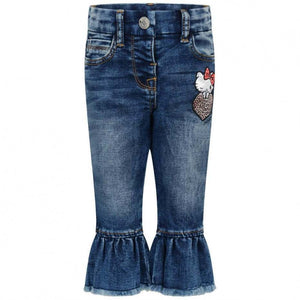 Monnalisa Bebe Hello Kitty Denim Jeans - Scarlett's Bowtique