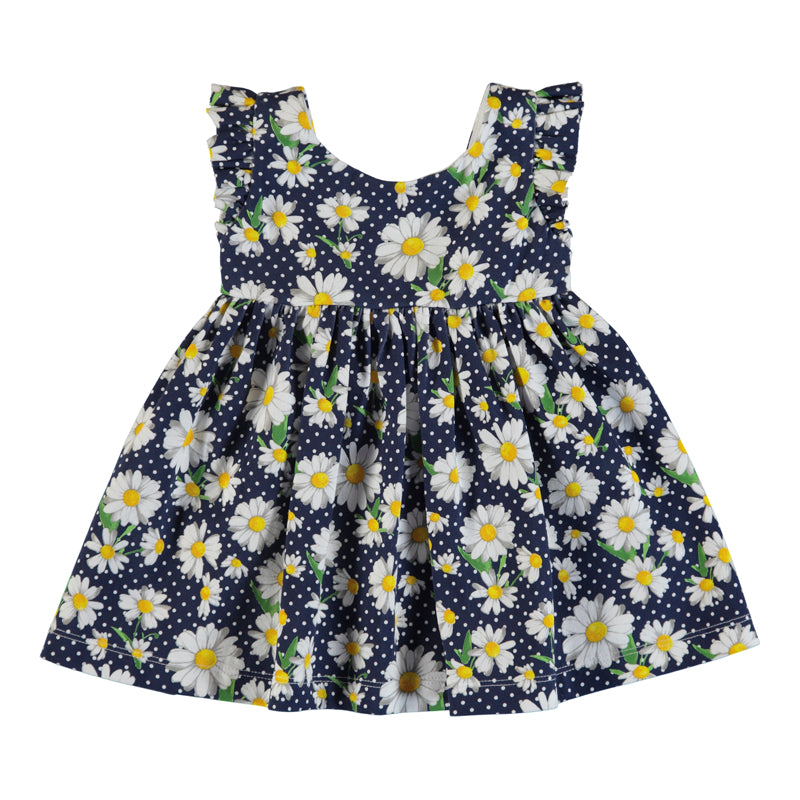 Mayoral Summer Toddler Navy Daisy Occasion Dress - Scarlett's Bowtique