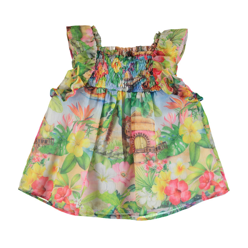 Mayoral Summer Toddler Tropical Hawaii Dress - Scarlett's Bowtique