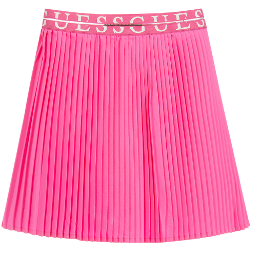 Summer Pink Pleated Skirt