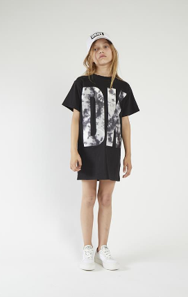 Black Big Logo Dress