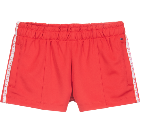 Tommy Red Taped Logo Shorts