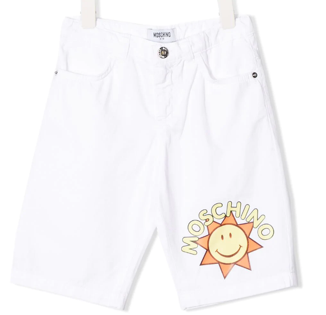 Moschino Summer Boys White Sunshine Shorts - Scarlett's Bowtique