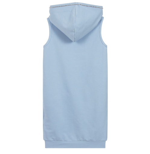 Summer Junior Pastel Blue Hooded Dress