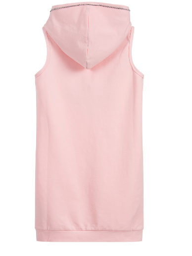 Summer Junior Pastel Pink Hooded Dress