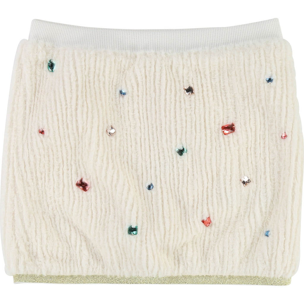 Billieblush Winter Girls Cream Jewelled Soft Skirt - Scarlett's Bowtique