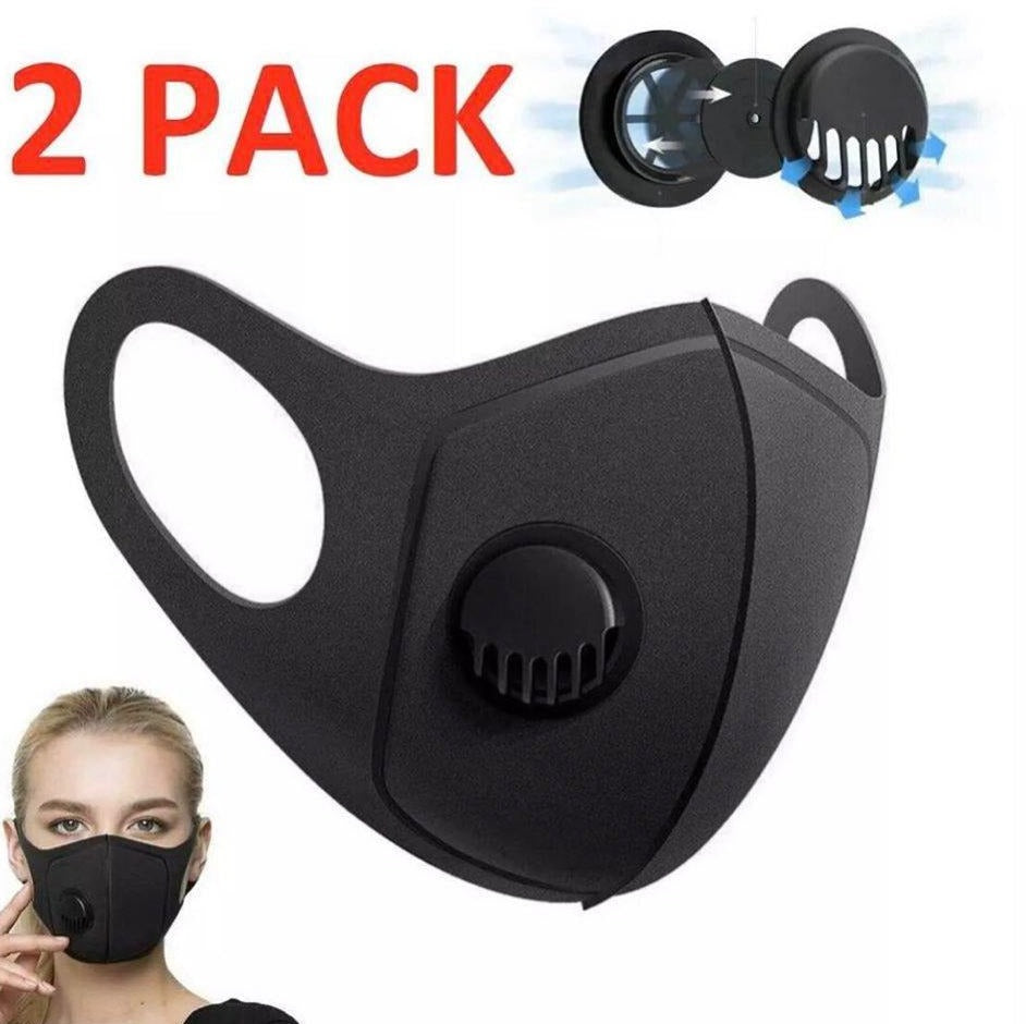 Face Mask Adult Sponge Air-filter Covering X 2 PACK