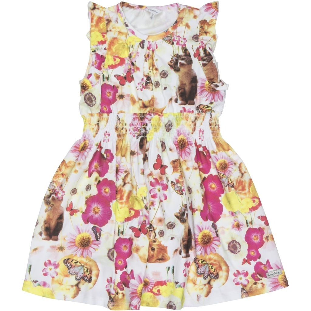 Happy Calegi Cute Cats Smock Dress