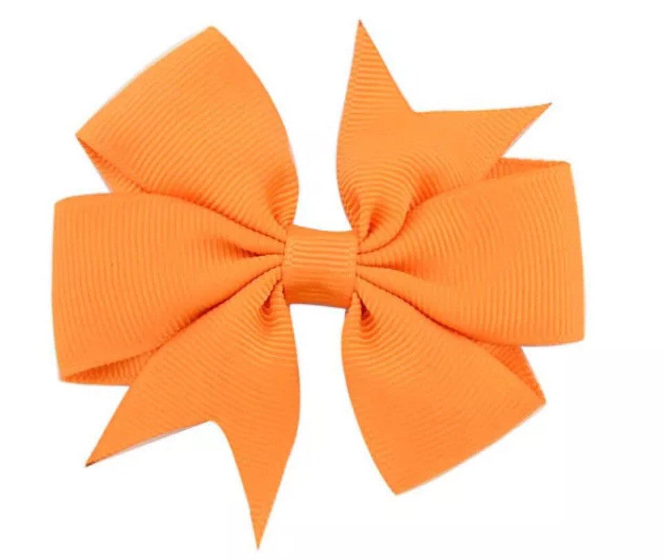 "Scarlett's Bows Orange Grosgrain 3"" Bow - Scarlett's Bowtique"