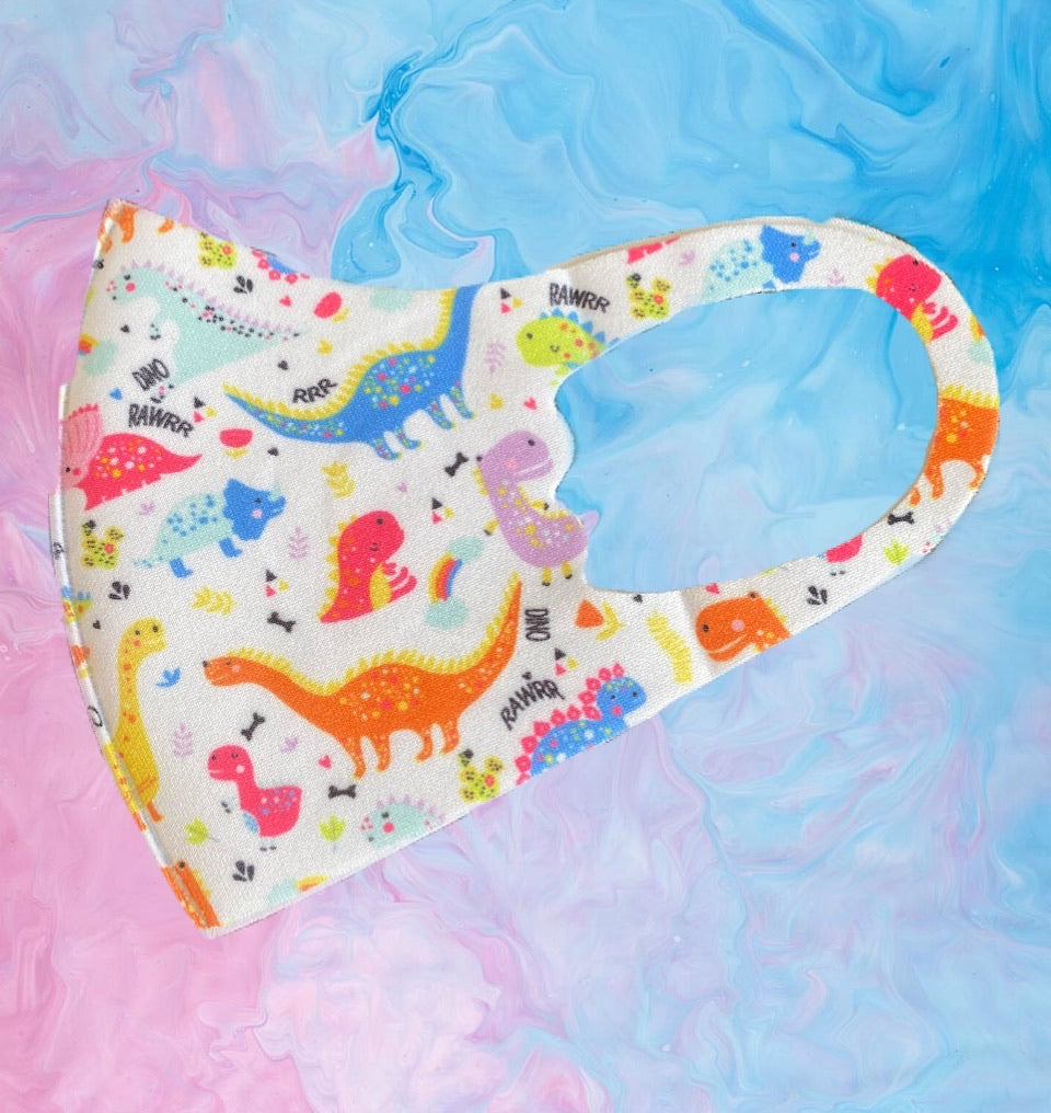 Child Love, Clouds & Dinosaurs  3 x Pack Face Mask Covering