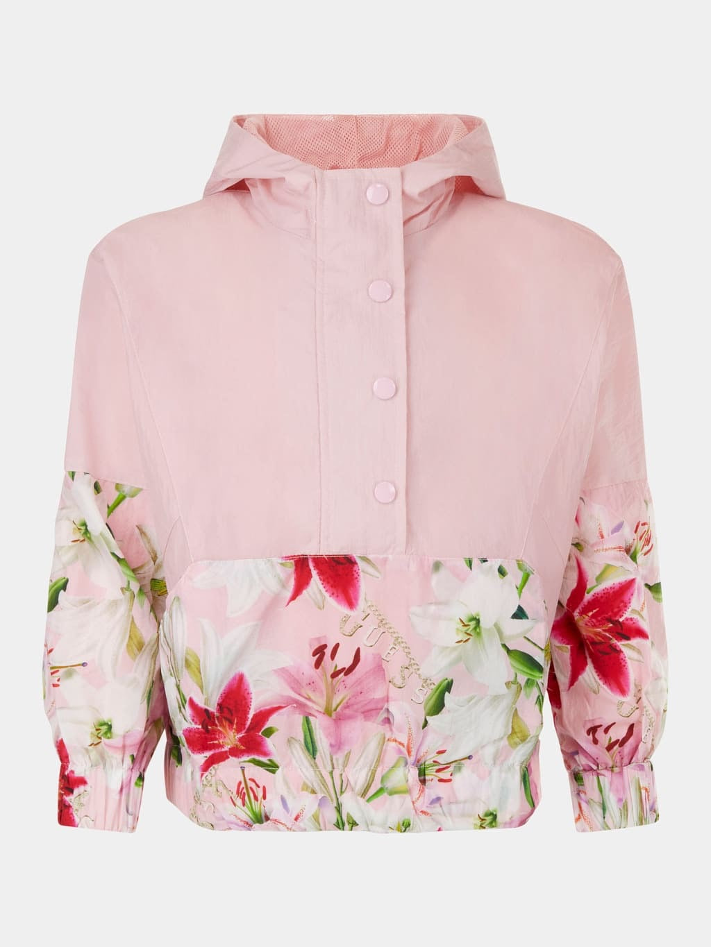 Pink Flower Active Windbreaker