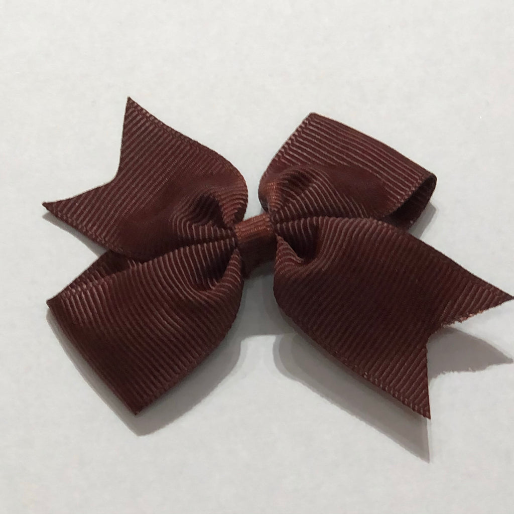"Scarlett's Bows Brown Chocolate Grosgrain 2"" Bow"