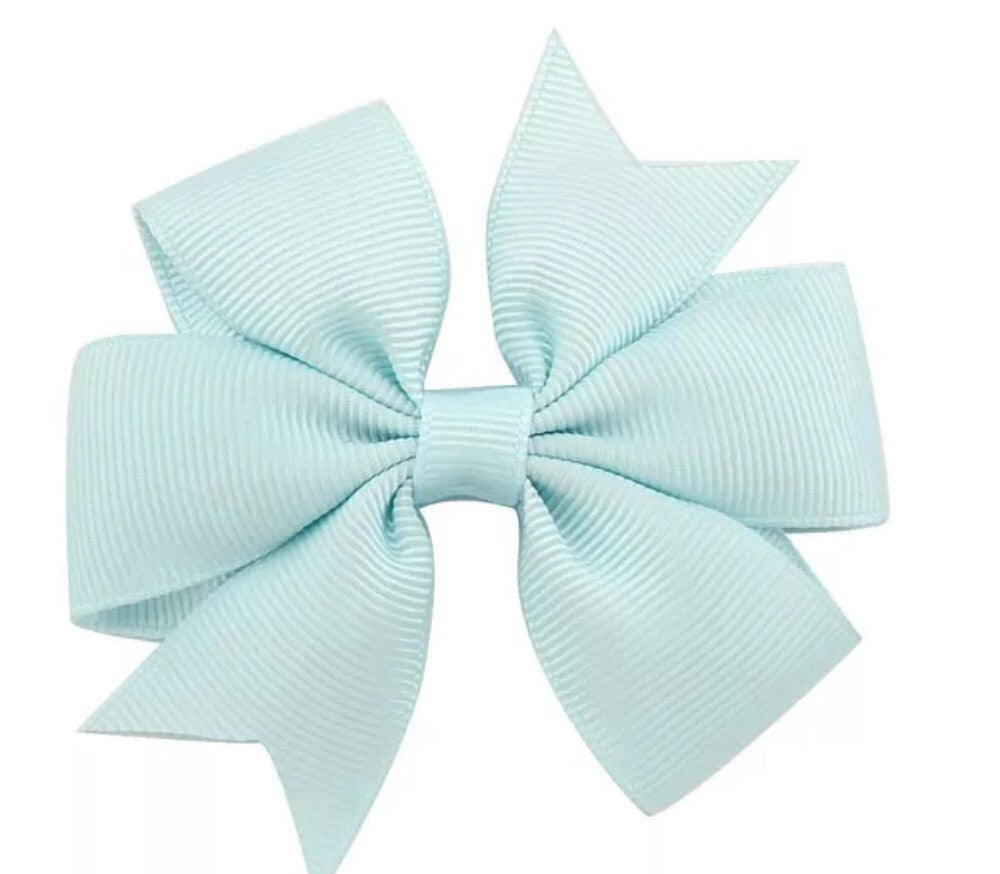 "Scarlett's Bows Light Blue Grosgrain 3"" Bow - Scarlett's Bowtique"