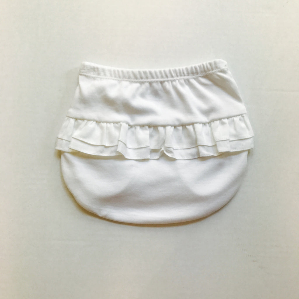 Laranjinha Baby Girls Summer White Frilled Pants - Scarlett's Bowtique