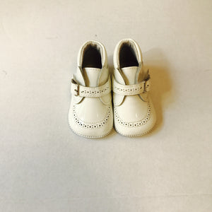 Pretty Originals White Patent Booties - Scarlett's Bowtique