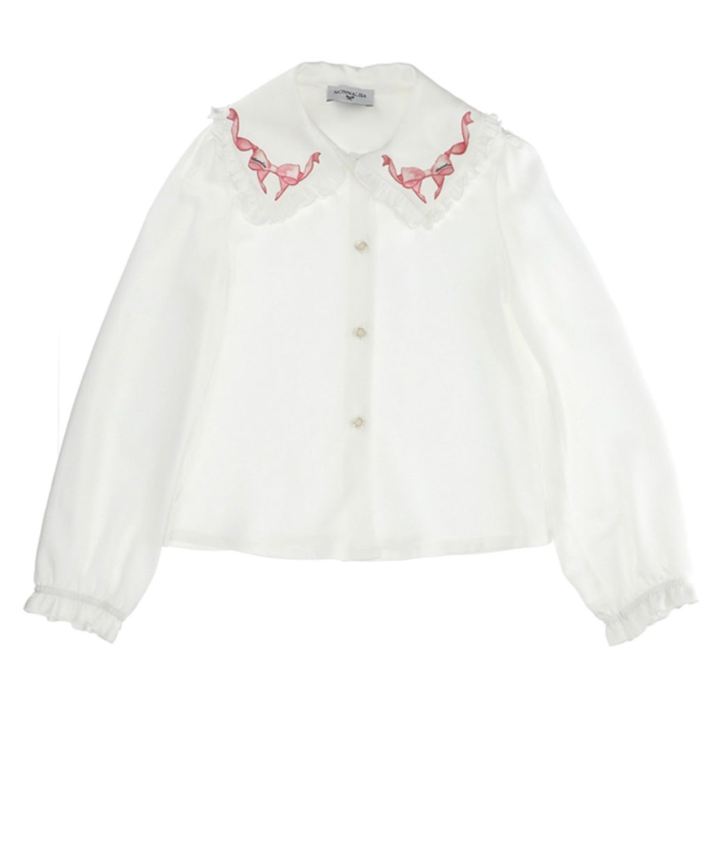 Monnalisa Bimba Alice In Wonderland Blouse