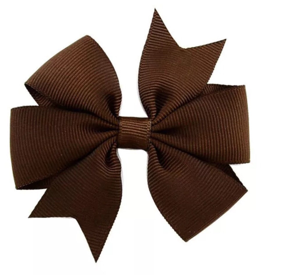 "Scarlett's Bows Brown Grosgrain 3"" Bow - Scarlett's Bowtique"
