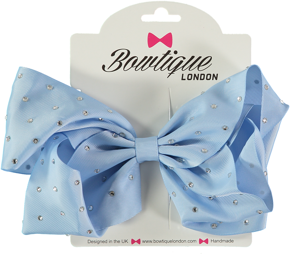 "London Bowtique Bluebird 8"" Crystal Bow - Scarlett's Bowtique"
