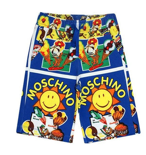 Moschino Summer Boys Blue Sunshine Shorts - Scarlett's Bowtique