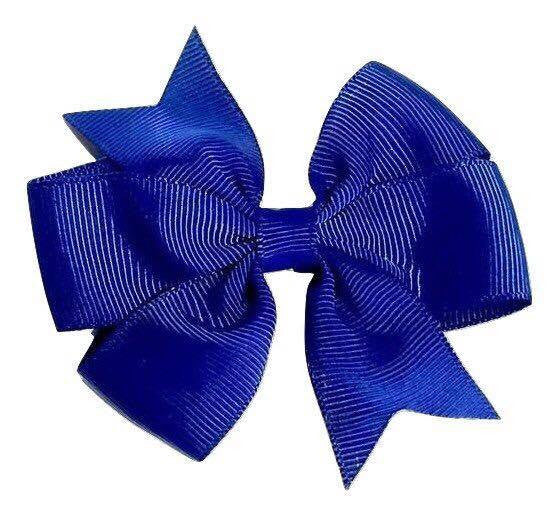 "Scarlett's Bows Royal Blue Grosgrain 3"" Bow - Scarlett's Bowtique"