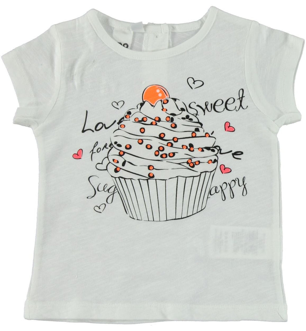 iDO Baby Girls Cupcake T-Shirt with Sunlight Sensitive Print - Scarlett's Bowtique