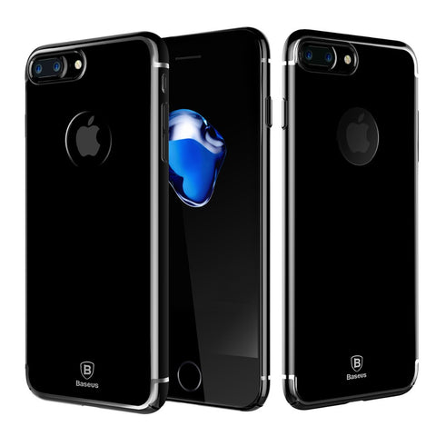 iPhone 7,7 Plus Luxury Fashion Slim Clear Black Cover