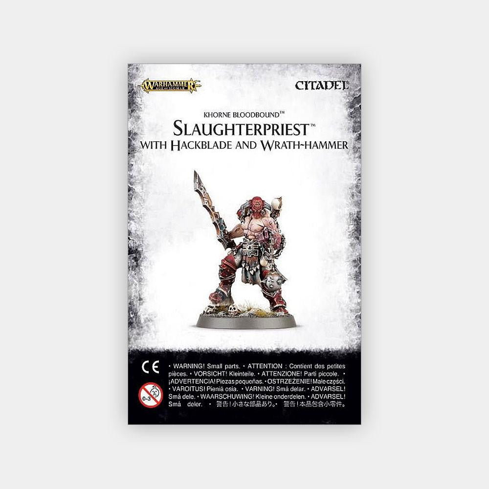Khorne Bloodbound Slaughterpriest With Hackblade and Wrath-hammer