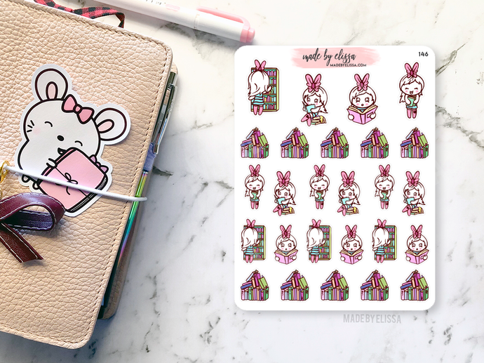 Book Lover Avery // Planner Stickers