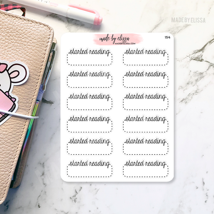 Started Reading Planner Stickers