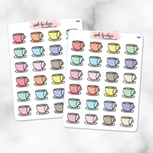 Tea Cups Planner Stickers