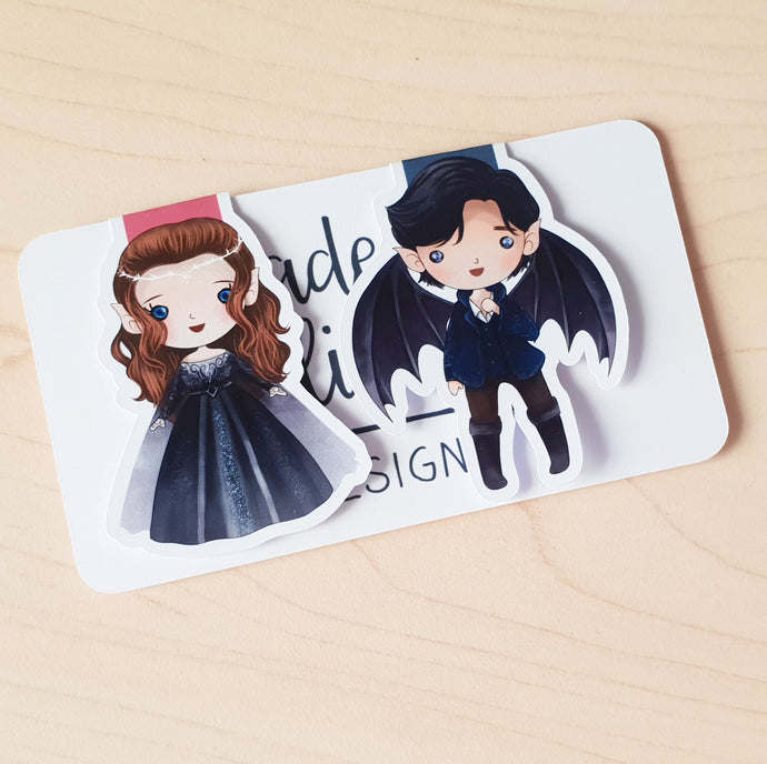 Feyre & Rhysand Magnetic Bookmarks